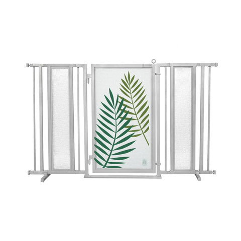 "60"" - 65"" Peaceful Palm Fusion Gate, Satin Nickel Finish"