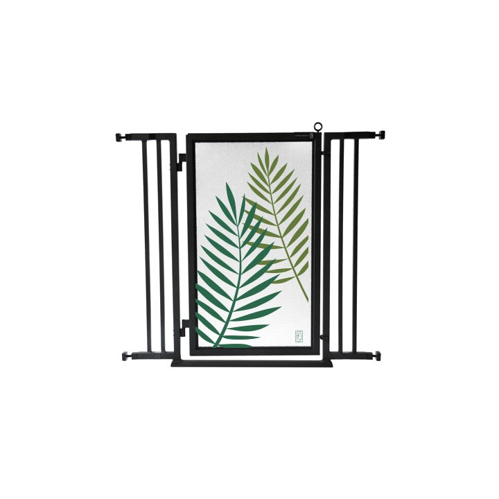 "32"" - 36"" Peaceful Palm Fusion Gate, Black Finish"
