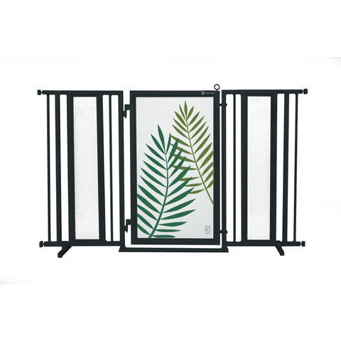 "60"" - 65"" Peaceful Palm Fusion Gate, Black Finish"