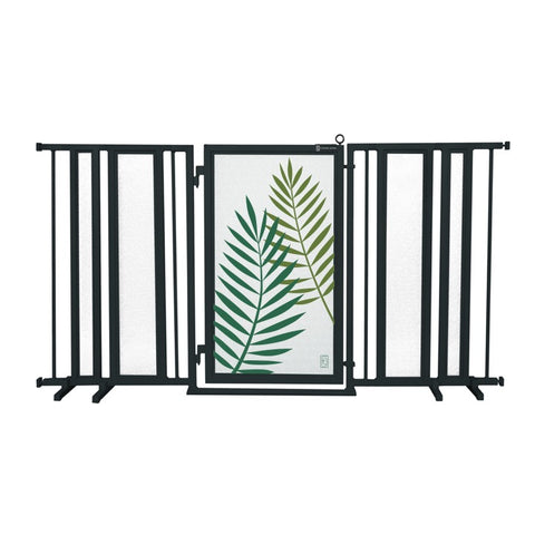 "65"" - 71.5"" Peaceful Palm Fusion Gate, Black Finish"