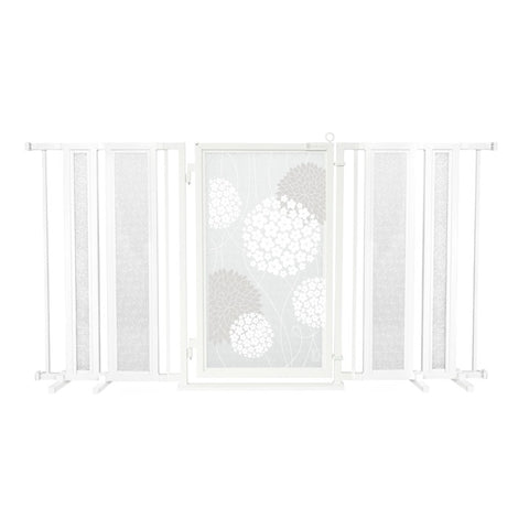 "65"" - 71.5"" White Garden Fusion Gate, White Pearl Finish"