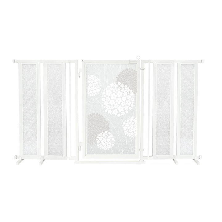 "71.5"" - 74"" White Garden Fusion Gate, White Pearl Finish"