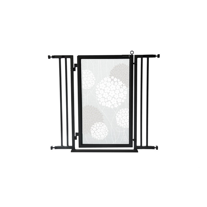 "32"" - 36"" White Garden Fusion Gate, Black Finish"