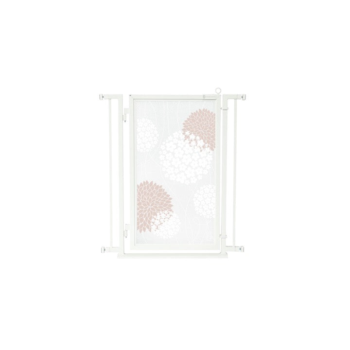 "32"" - 34"" Blushing Garden Fusion Gate, White Pearl Finish"