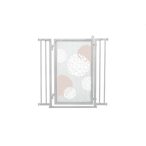 "32"" - 36"" Blushing Garden Fusion Gate, Satin Nickel Finish"