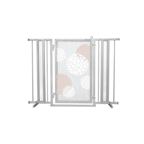 "36"" - 52"" Blushing Garden Fusion Gate, Satin Nickel Finish"