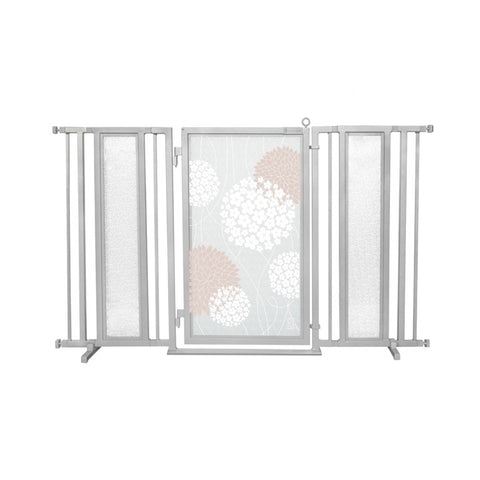 "60"" - 65"" Blushing Garden Fusion Gate, Satin Nickel Finish"