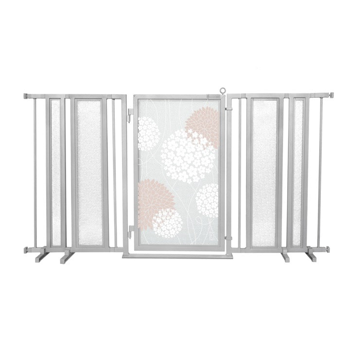 "65"" - 71.5"" Blushing Garden Fusion Gate, Satin Nickel Finish"