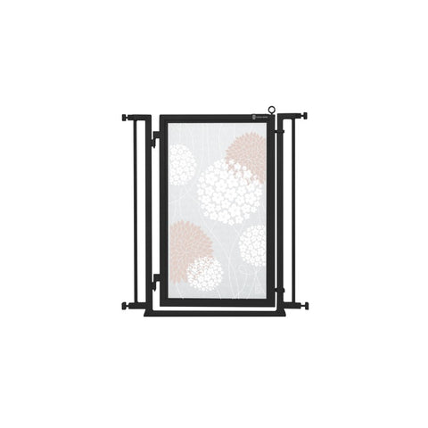"32"" - 34"" White Garden Fusion Gate, Black Finish"