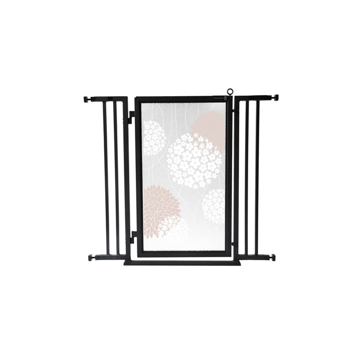 "32"" - 36"" Blushing Garden Fusion Gate, Black Finish"