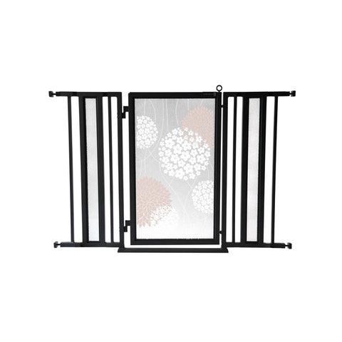 "36"" - 52"" Blushing Garden Fusion Gate, Black Finish"