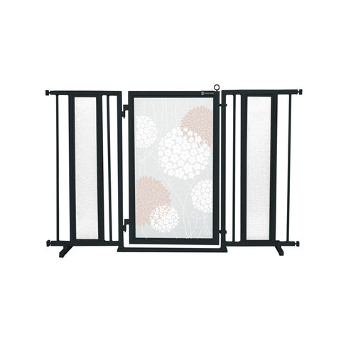 "52"" - 60"" Blushing Garden Fusion Gate, Black Finish"