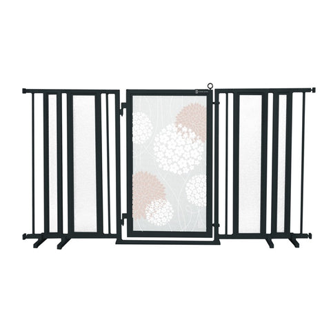"65"" - 71.5"" Blushing Garden Fusion Gate, Black Finish"