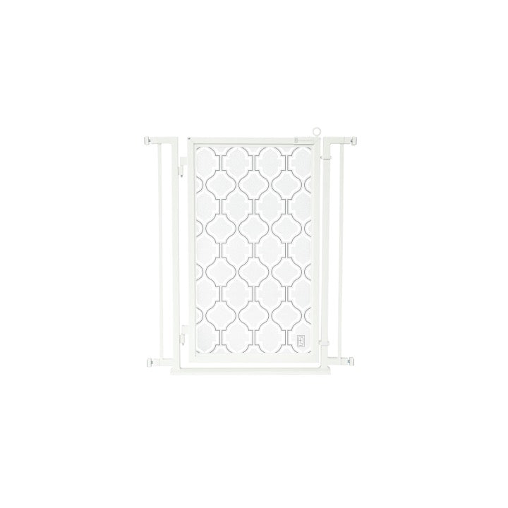 "32"" - 34"" Trellis in White Fusion Gate, White Pearl Finish"