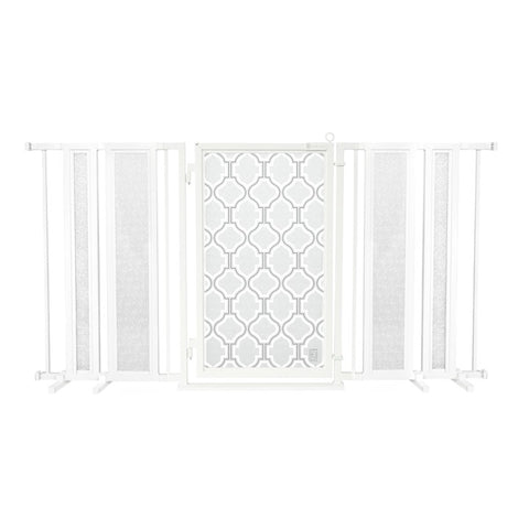 "65"" - 71.5"" Chevron Trail Fusion Gate, White Pearl Finish"