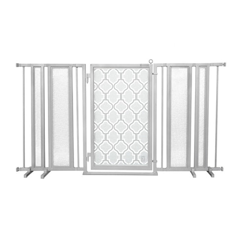 "65"" - 71.5"" Autumn Ginkgo Fusion Gate, Satin Nickel Finish"