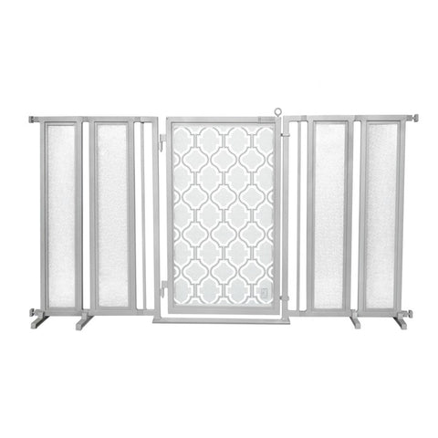 "71.5"" - 74"" Gold Lattice Fusion Gate, Black Finish"