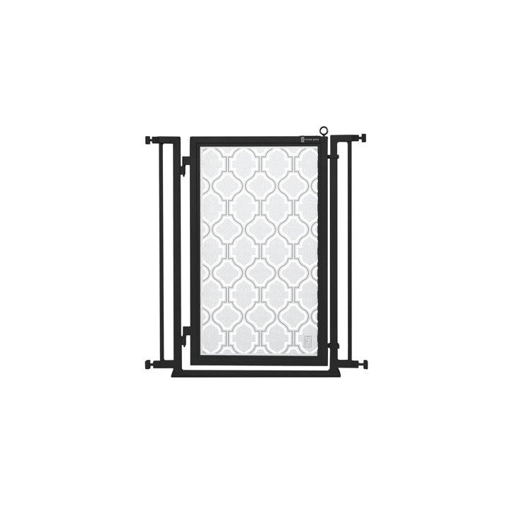 "32"" - 34"" Trellis in White Fusion Gate, Black Finish"