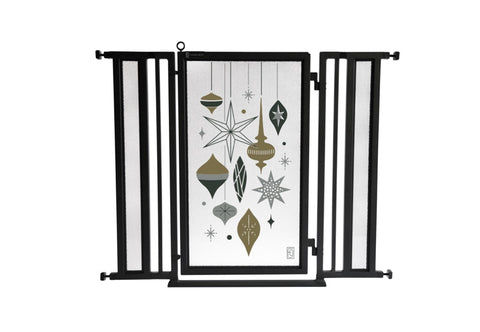 "36"" - 52"" Holiday Ornaments Fusion Gate, Black Finish"