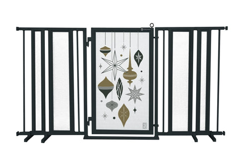 "65"" - 71.5"" Holiday Ornaments Fusion Gate, Black Finish"