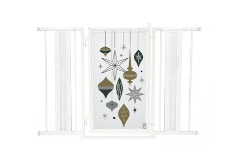 "36"" - 52"" Holiday Ornaments Fusion Gate, White Pearl Finish"