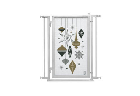 "32"" - 34"" Holiday Ornaments Fusion Gate, Satin Nickel Finish"