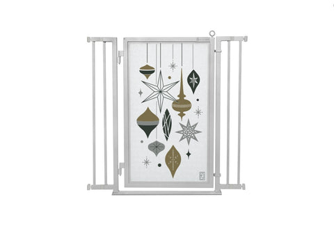"32"" - 36"" Holiday Ornaments Fusion Gate, Satin Nickel Finish"