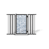 Fusion Gates Baby Gates for Stairs, Chevron Trail in Blue