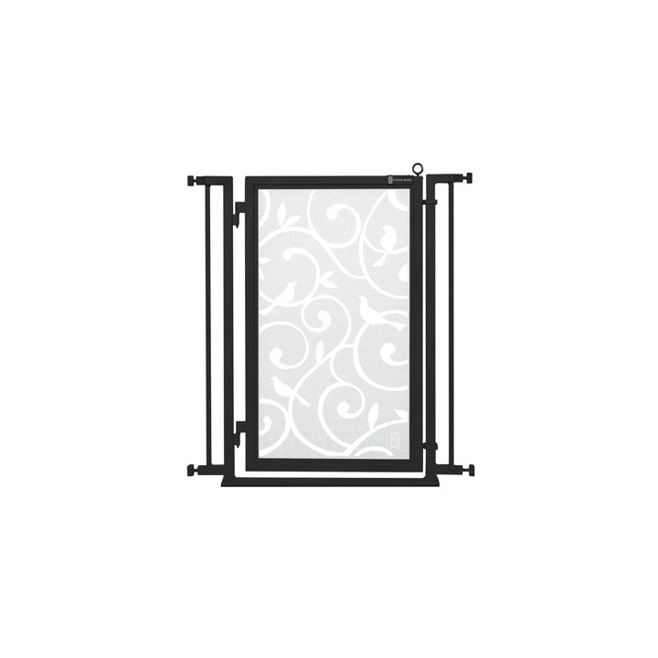 "32"" - 34"" Songbirds in White Fusion Gate, Black Finish"