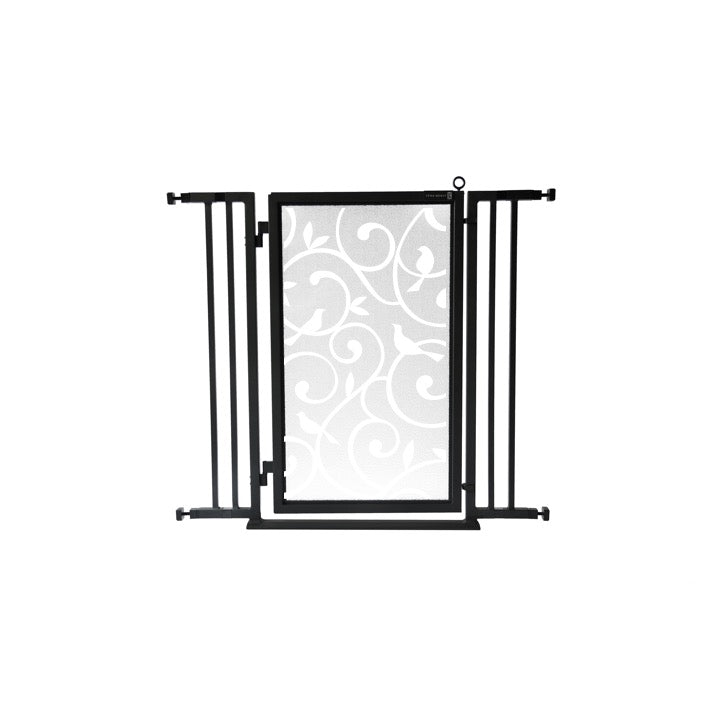 "32"" - 36"" Songbirds in White Fusion Gate, Black Finish"
