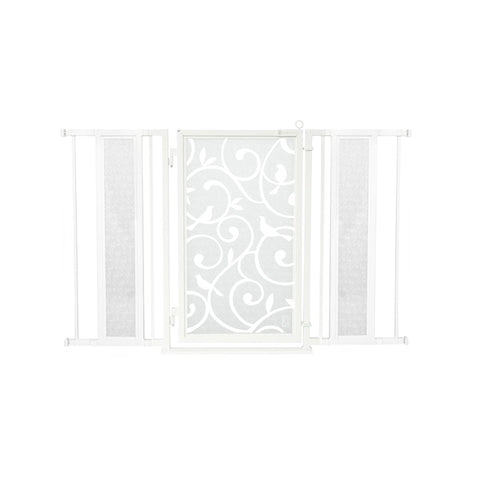 "52"" - 60"" Healing Waters Fusion Gate, White Pearl Finish"