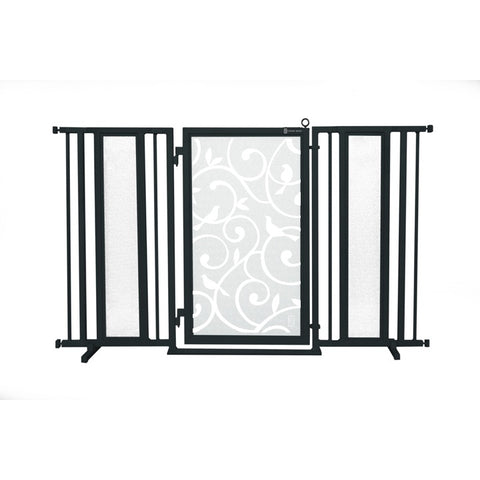 "60"" - 65"" Songbirds in White Fusion Gate, Black Finish"
