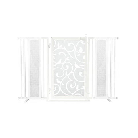 "60"" - 65"" Songbirds in White Fusion Gate, White Pearl Finish"