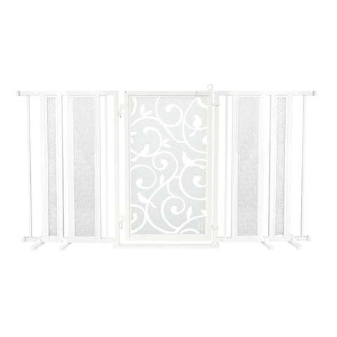"65"" - 71.5"" Songbirds in White Fusion Gate, White Pearl Finish"