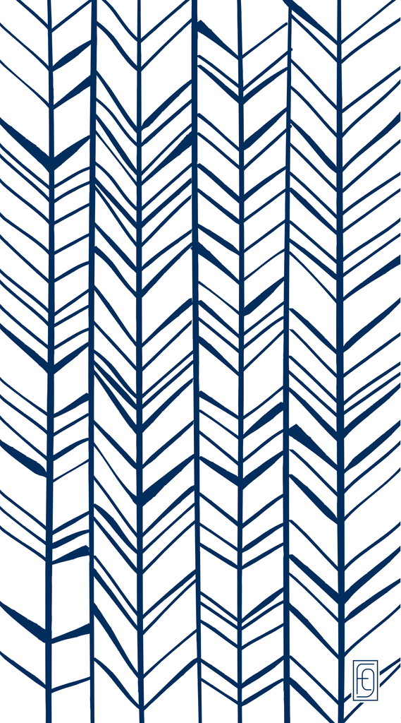 Fusion Gates Baby & Pet Screen Only - Chevron Trail in Blue