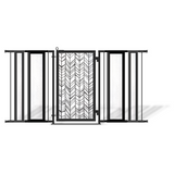 Fusion Gates Extra Wide Pet & Baby Gate, Chevron Trail