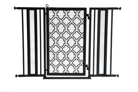 "36"" - 52"" Trellis Fusion Gate, Black Finish"
