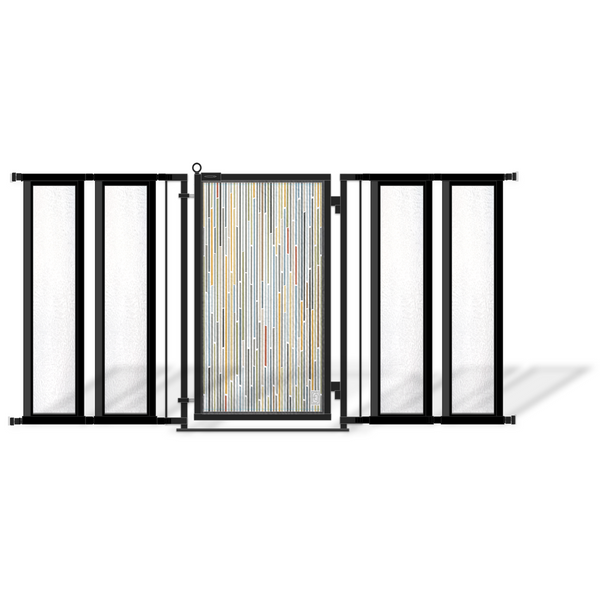 ... Fusion Gates Modern Dog U0026 Baby Gate For Top Of Stairs ...