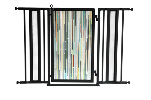"36"" - 52"" Trellis Fusion Gate, Satin Nickel Finish"