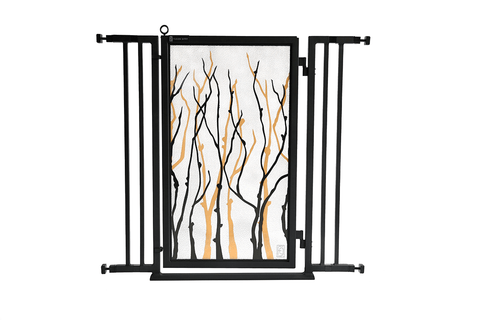 "32"" - 36"" Autumn Ginkgo Fusion Gate, White Pearl Finish"