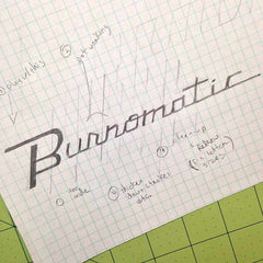 Burnomatic Name Plate Sketch, I Club Detroit