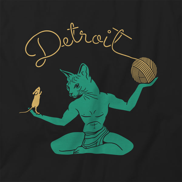 Cat Spirit of Detroit Hooded Sweatshirt Unisex