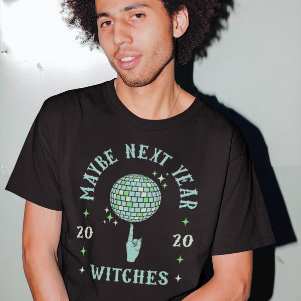Discoween Maybe Next Year Witch's Index Finger Spinning Disco Ball Unisex Shirt | I Club Detroit