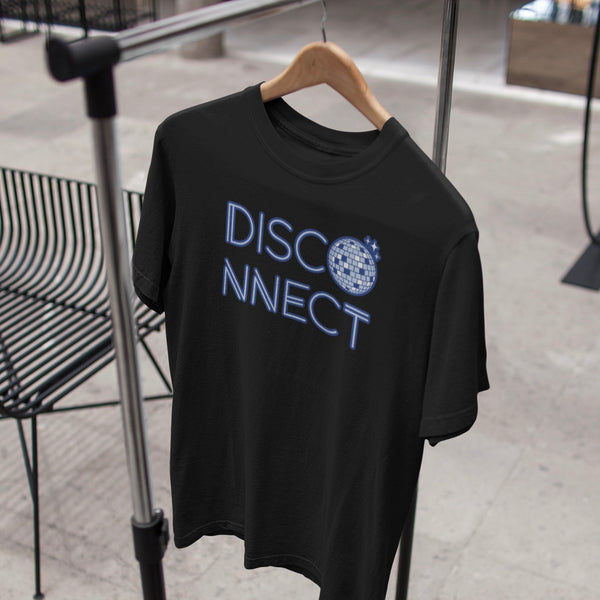 Disco Ball Disconnect Black Tee Hanging | I Club Detroit