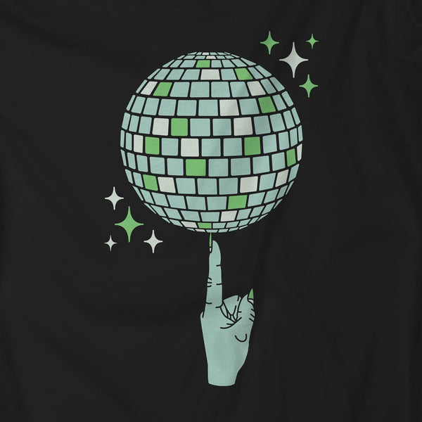 Witch's Index Finger Spinning Disco Ball Design | I Club Detroit