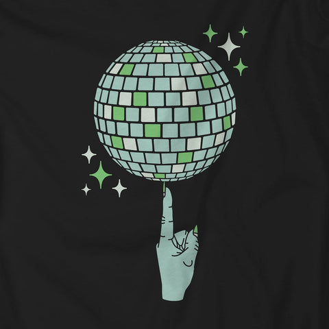 Discoween Witch's Index Finger Spinning Disco Ball Unisex T-Shirt