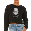 SKNOB Techno Snob Women's Crop Sweatshirt | I Club Detroit