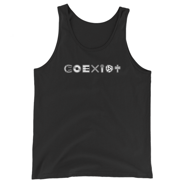 COEXIST Music Unisex Tank with Microphone