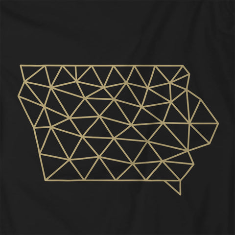 Wireframe Polygonal Iowa Unisex T-Shirt