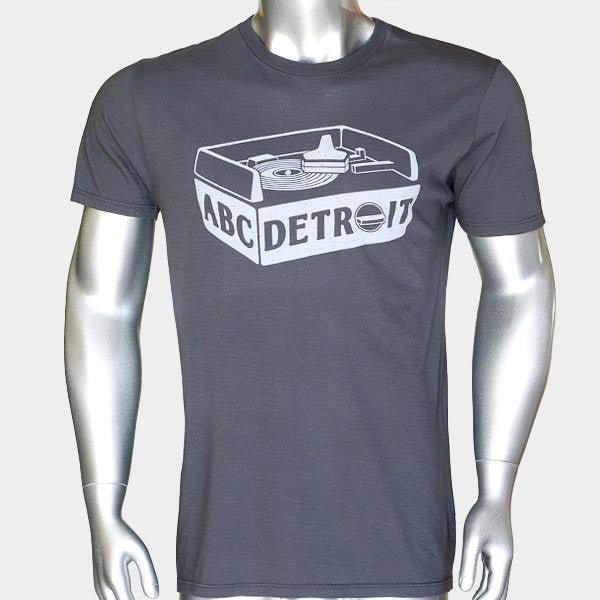 ABCDETROIT Turntable T-Shirt Unisex I Club Detroit Techno Shirt